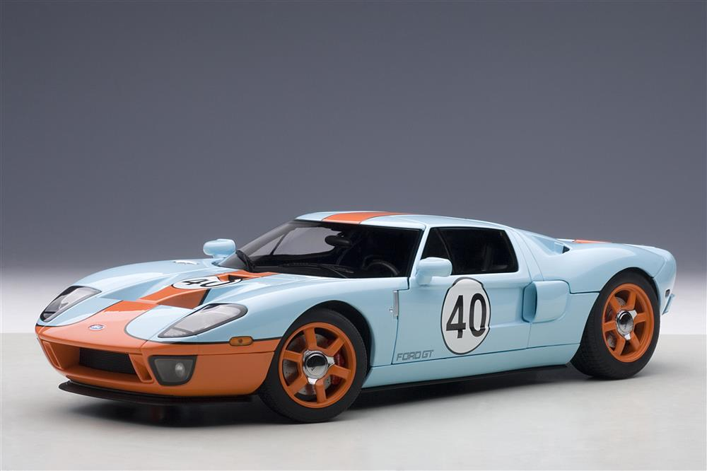 Ford Gt Gulf Livery  Blue With Orange  Cast Model Car By Autoart Walmart Com