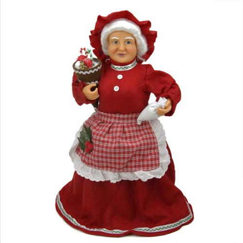 "17"" Mrs. Claus Baking Sweets Christmas Tree Topper or Table Top Decoration"