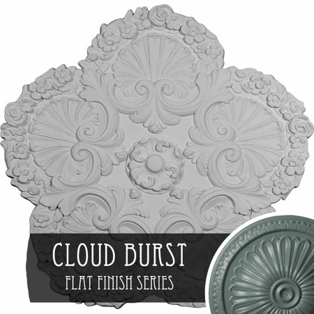 25 5 8 OD x 1 P Shell Ceiling Medallion Hand Painted Cloud Burst