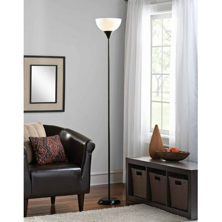 - Mainstays Floor Lamp with Bulbs Included, Black