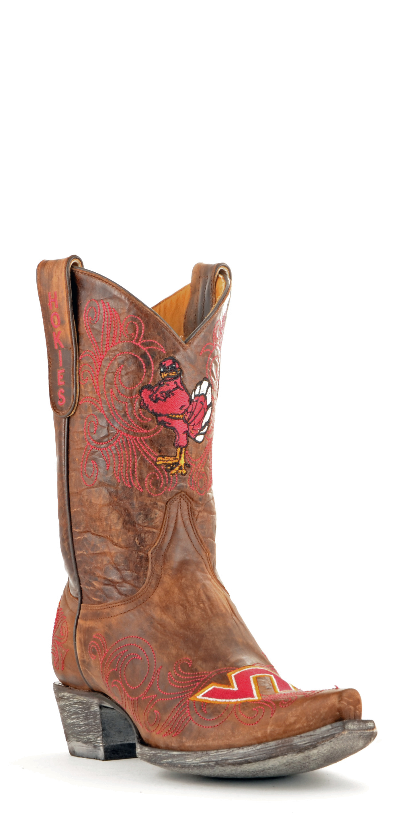 Gameday Boots Womens College Team Virginia Tech Hokies Brass VT-L226-1 by GameDay Boots