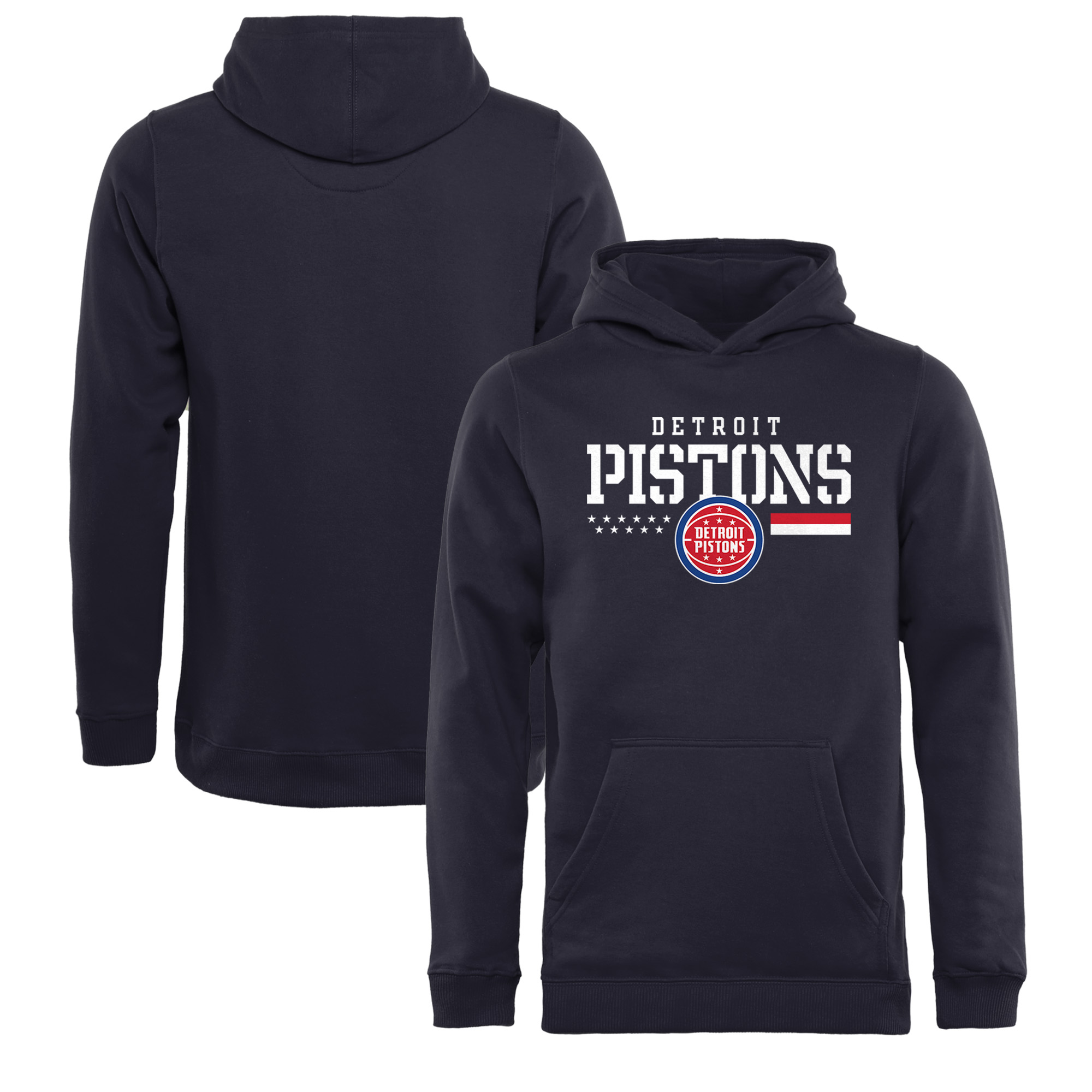 Detroit Pistons Fanatics Branded Youth Hoops For Troops Pullover Hoodie - Navy
