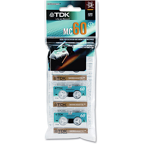 TDK MC-60 Microcassette tape 3PK