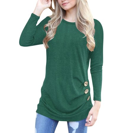 3e42eaddfbde9 phoebecat - Women s Casual Long Sleeve Lightweight Blouse Tops ...