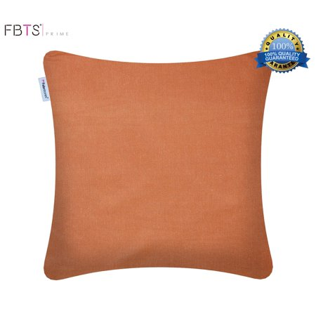 Throw Pillow Covers 18 X Inches Orange Decorative Square Pillows Cover Indoor Outdoor Cushion