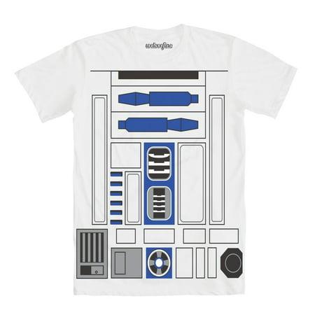 Flip Stars - Star Wars I Am R2-D2 Mens White Flip T-Shirt | M