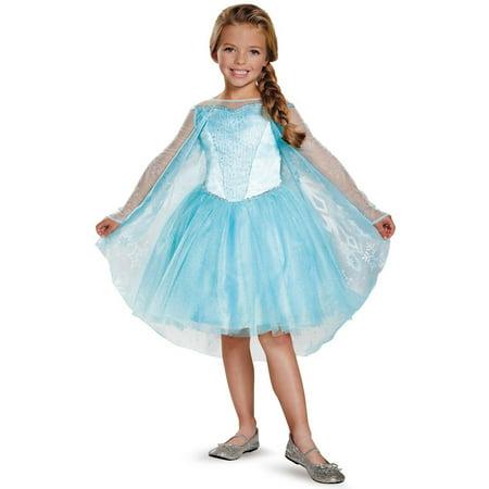 Frozen Toddler Prestige Elsa Tutu Toddler Halloween Costume, 3T-4T](Ladies Elsa Costume)