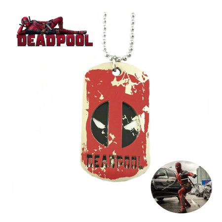 Marvel Comics Deadpool Necklace Pendant - Dog Tag - Movies TV Series Cosplay Jewelry by Superheroes