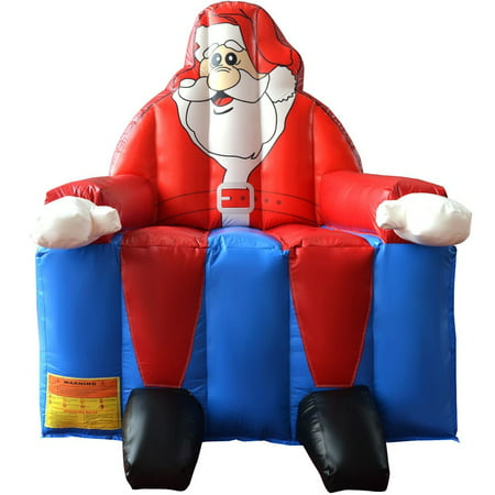 Inflatable Santa Claus Bounce House Castle Jumper Christmas Bouncer w/out Blower