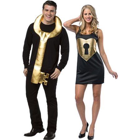 Key to my Heart Couples Adult Halloween Costume - Cartoon Character Halloween Costumes For Couples