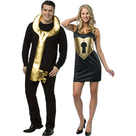 Key to my Heart Couples Adult Halloween Costume - Funny Last Minute Couples Halloween Costumes