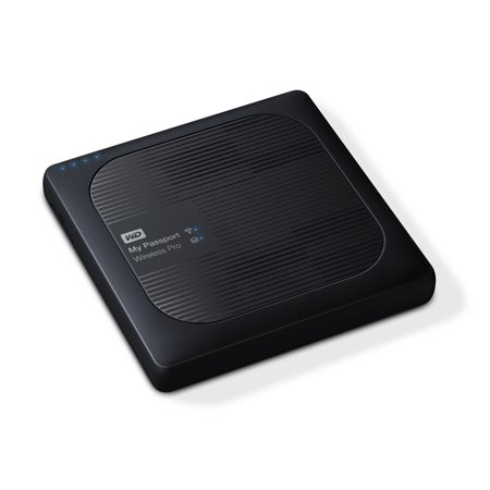 Passport Wireless Executive Kit - WD 2TB My Passport Wireless Pro Portable External Hard Drive - WIFI USB 3.0 - WDBP2P0020BBK-NESN