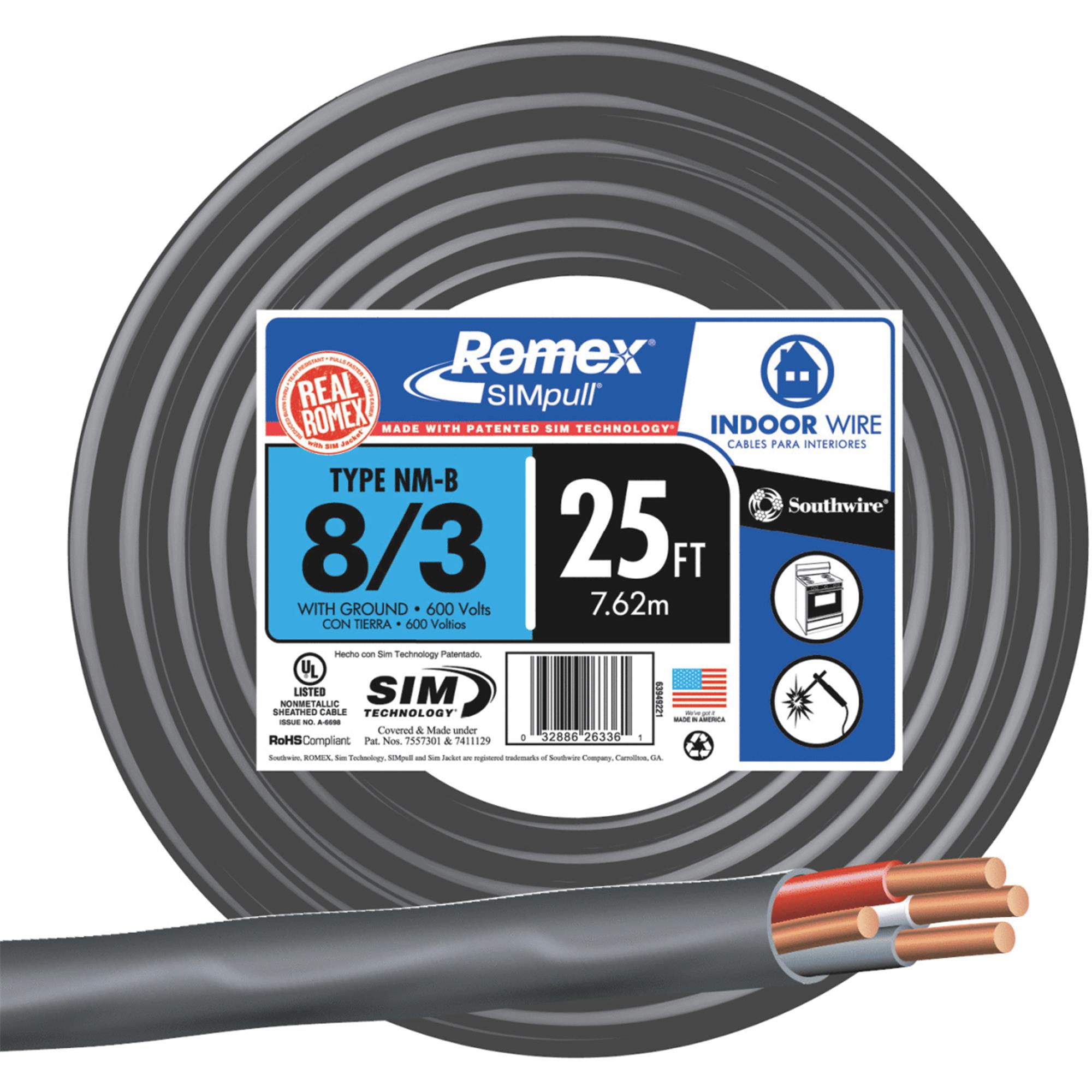 Southwire Romex 8-3 NMW/G Wire