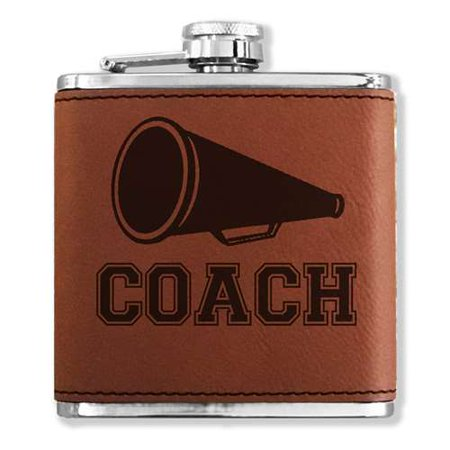 Faux Leather Flask - Cheerleading Coach - Dark - Cheerleading Gear