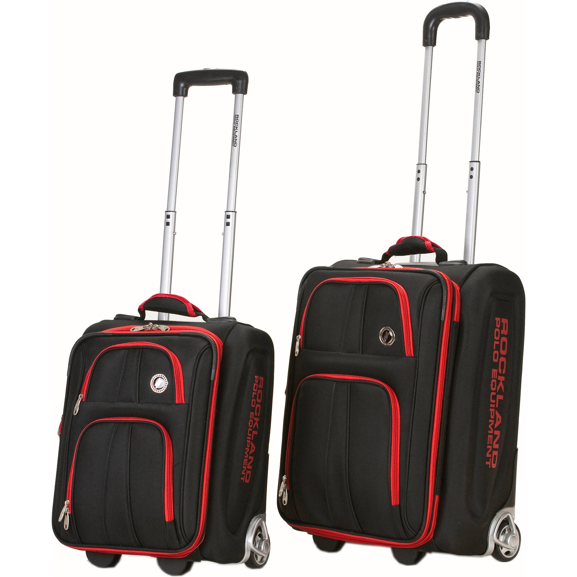 Rockland Luggage Polo Equipment 2-Piece Carry-On Luggage Set, Black