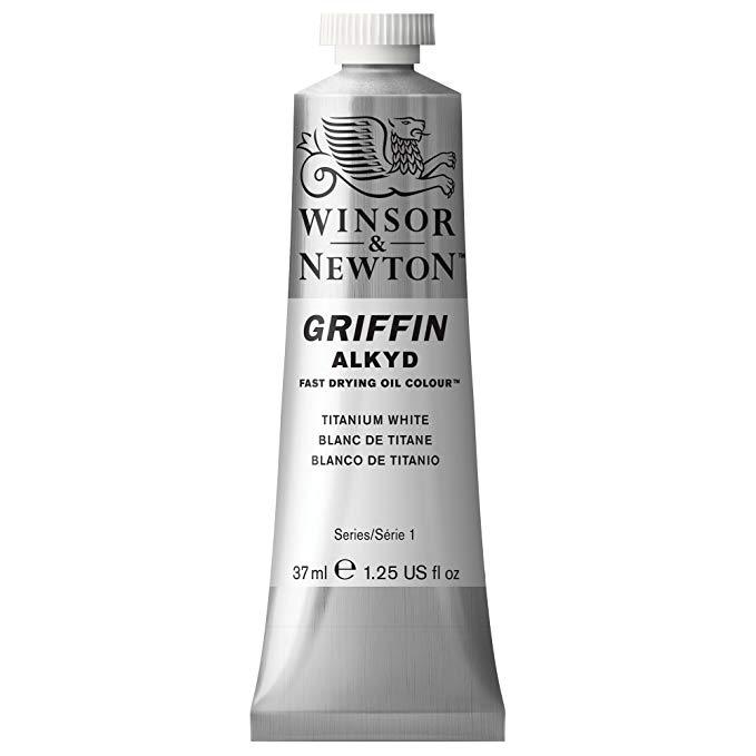 Winsor & Newton - Griffin Alkyd Color - 37ml Tube - Titanium White