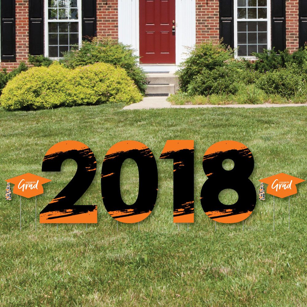 Orange Grad - Best is Yet to Come - 2018 Yard Sign Outdoor Lawn Decorations -  Graduation Party Yard Signs