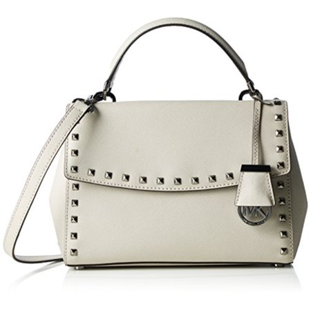 1302a6461d08 MICHAEL Michael Kors - Michael Kors Cement Small Ava Stud Top Handle Satchel  - Walmart.com