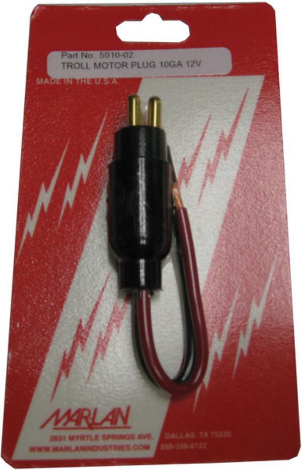 Mar-Lan Trolling Motor Plug 12V 10 Gauge 5010-02C by MAR-LAN