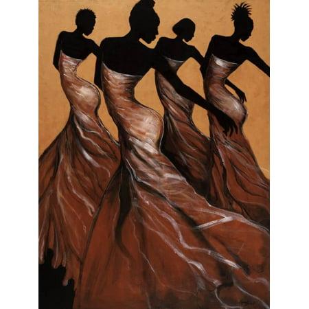 Flow African American Women Figurative Dance Print Wall Art By Monica Stewart