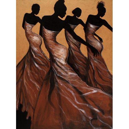 Flow African American Women Figurative Dance Print Wall Art By Monica Stewart African American Framed Art