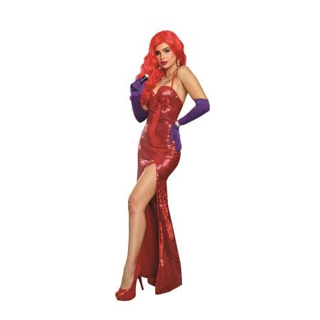 Women's Va-Va-Voom Sexy Starlet Costume Gown