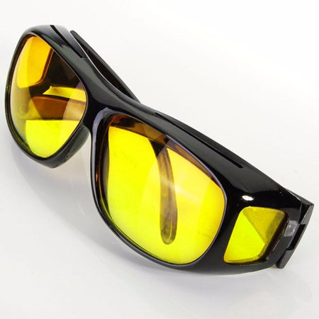 1x Yellow HD Lens Goggle Unisex Sunglasses UV Protection For Night Vision Driving Sports