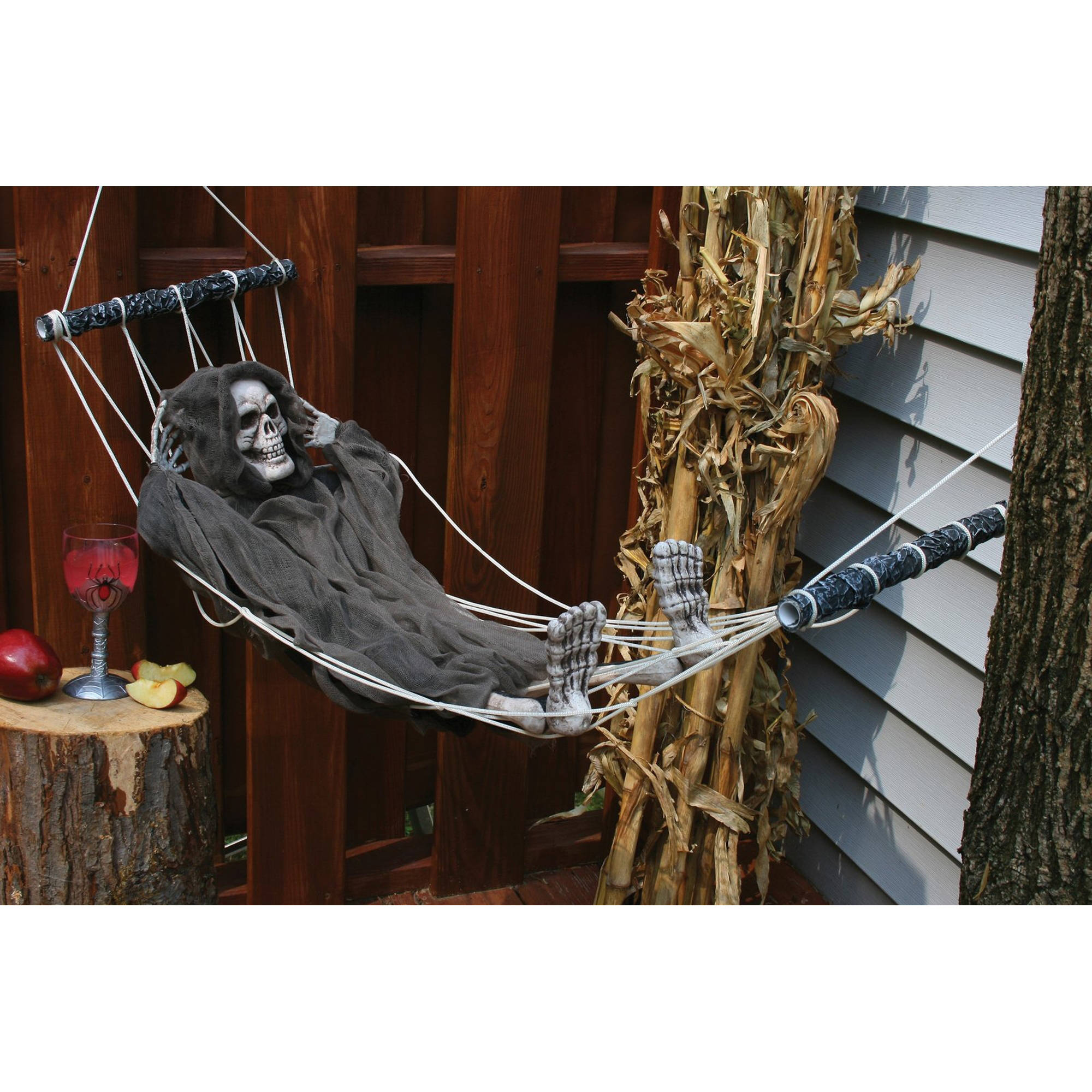 "Lazy Bones Decoration, 64"" Reaper Halloween Decoration By Fun World"