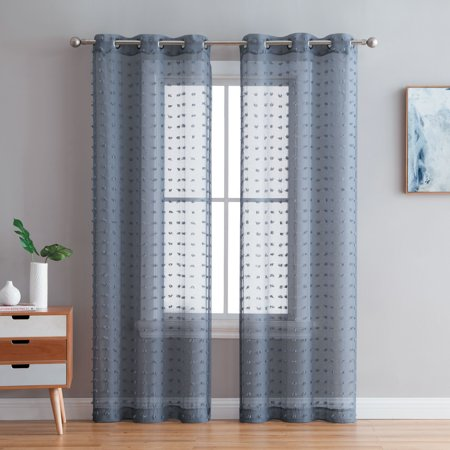 Panel Clip - Better Homes & Gardens Clipped Pom Pom Window Curtain Panel, Set of 2