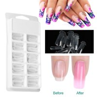 YLSHRF 100pcs Clear Nail Form Full Cover Quick Building Gel Mold Tips Nail Extension DIY Manicure Tool,Clear Nail Form, Poly Gel Mold Tips