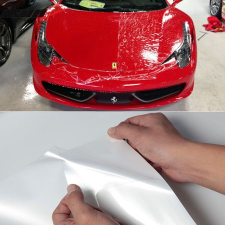 Bestop Door Sill - Clear Film Vinyl Sheet 12X60 Inch Headlight Hood Door Sill Edge Paint Protection