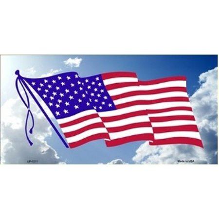American Flag Cloud Background License Plate - image 2 of 2