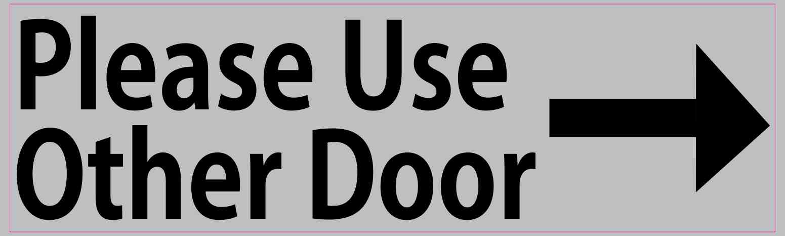 10in x 3in gray right please use other door sticker vinyl window stickers