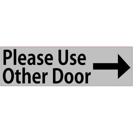 10in x 3in gray right please use other door sticker vinyl window stickers