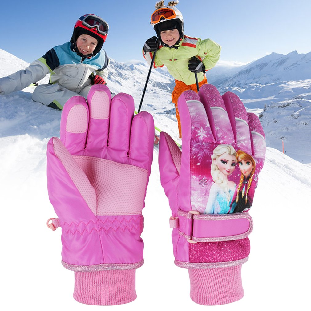 Feiyu A003 Children Ski Gloves Waterproof Windproof Winter Warm Thick Glove Outdoor Sports Riding Skating Skiing... by