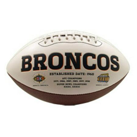 Rawlings Signature Series Full-Size Football, Denver (Denver Broncos Autographed Pro Football)