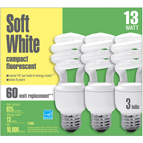Basic CFL Spiral 13wt Case -12 bulbs