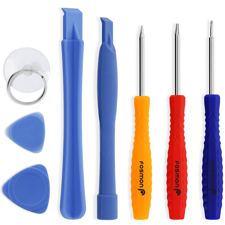 Fosmon 8 pc Tool Kit includes 5-Point Pentalobe Screwdriver for Apple iPhone X/8/8 Plus/7/7 Plus/6S/6/5/5S/5C/4/4S, iPad