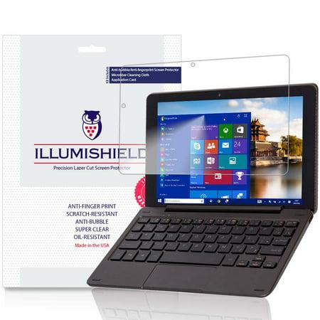 iLLumiShield Screen Protector w Anti-Bubble/Print 2x for Nextbook Flexx 9 8.9