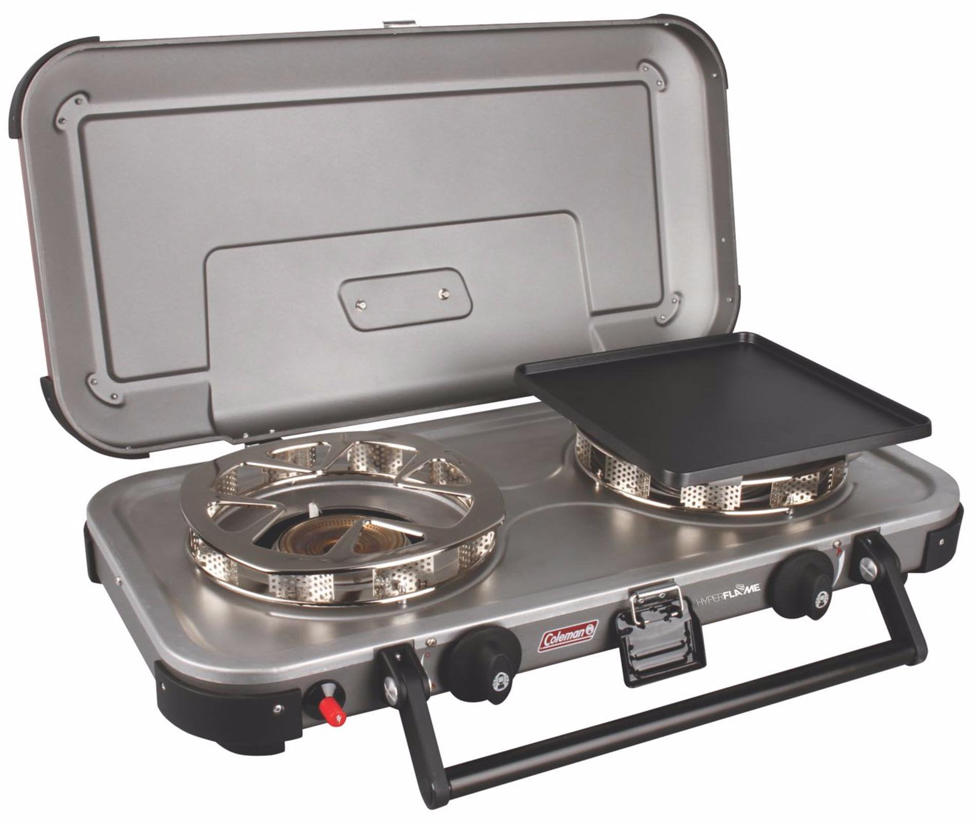 Coleman Gladiator Series FyreChampion 3-IN-1 Propane Stove, Grey, Steel by COLEMAN