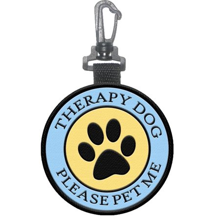 """Therapy Dog"" Identification Patch Tag with Paw Print"