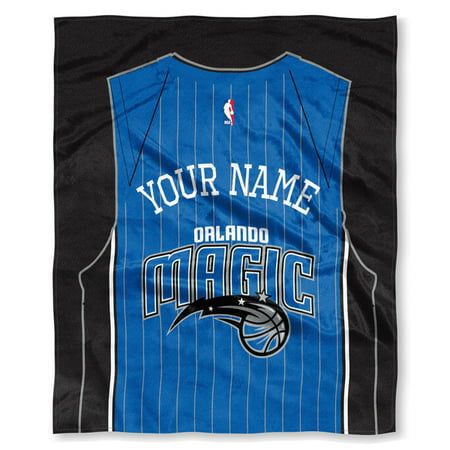 "NBA Orlando Magic ""Jersey"" Personalized Silk Touch Throw Blanket"