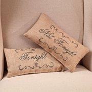 Small Burlap Tonight Country Pillow