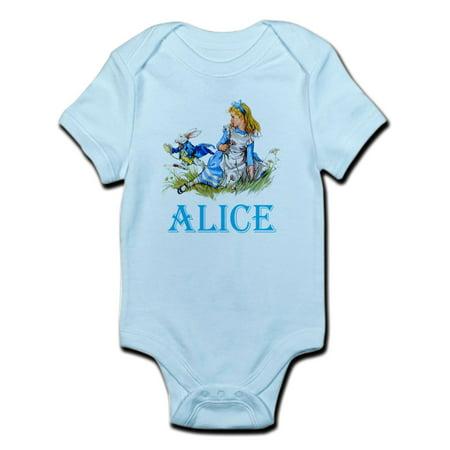 CafePress - ALICE IN WONDERLAND - BLUE Infant Bodysuit - Baby Light - Alice In Wonderland Baby Outfit