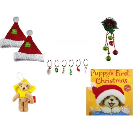 Christmas Fun Gift Bundle [5 Piece] - Be Jolly Santa Sparkle Hat 17