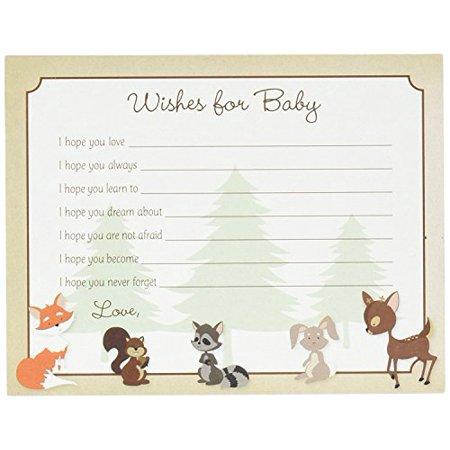 48 cnt Woodland Animals Baby Wish card - image 3 of 3