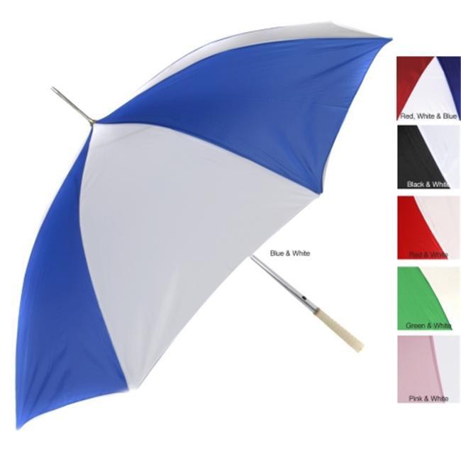 48 inch Automatic Umbrella (Case of 24) - Blue/ White - 065-G24BL