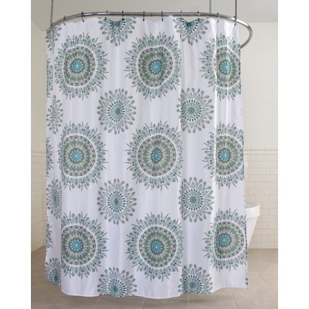 Splash Home Felia Polyester Fabric Shower Curtain 70 X 72