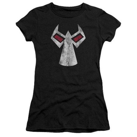 Batman-Bane Mask - Short Sleeve Junior Sheer Tee - Black, 2X - Bane Mask Sale