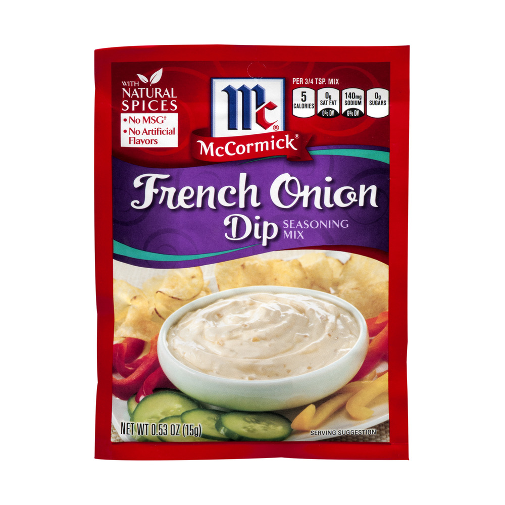 McCormick® French Onion Dip Seasoning Mix, 0.62 oz. Packet